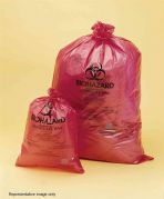 Bel-Art Red Polypropylene Biohazard Disposal Bags 79x97cm 0.04mm Thickness Pack of 200-13164-3138-Camlab