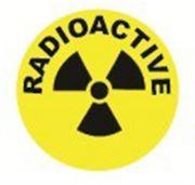 Camlab Plastics Tubee's Hazard Labels Radioactive Pack of 500 from Camlab