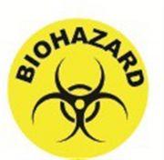 Camlab Plastics Tubee's Hazard Labels Biohazard Dots Pack of 500 from Camlab