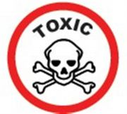 Camlab Plastics Tubee's Hazard Labels Toxic Pack of 500 from Camlab