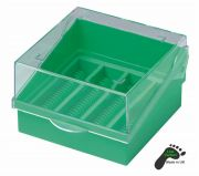 Camlab Plastics Microscope Slide Box, Green holds 100 slides 76x26mm from Camlab