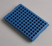 Camlab Plastics Recycled Material 96 Well PP Reversible Rack For 0.5ml/2ml tubes from Camlab