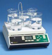 Echotherm Programmable 5 position hotplate stirrer, 230V, 12' ceramic top