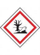 GHS-09 Hazardous to the aquatic environment label, 100mm x 100mm, self adhesive vinyl