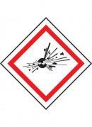 GHS Hazard Symbols 50x50mm rolls of 250 labels