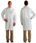 3M 4440 White Lab Coats - Zip Fastener - 4XL - Pack of 50-camlab
