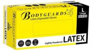 Bodyguards Lightly Powdered Latex Gloves AQL 4.0 Box of 10x100 pcs-camlab