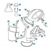 Spares and Accessories for Versaflo M-100 Series Faceshields--Camlab