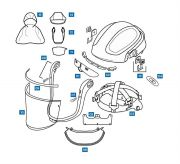 Spares and Accessories for all Versaflo M series Faceshields--Camlab