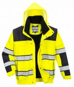 C466 Yellow/Black Hi-Vis Bomber Jacket