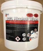 80% Alcohol Wipes, 3 Litre Tub - 150 Wipes-80%WIPE-150-Camlab