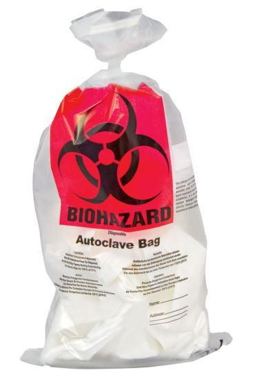Biohazard PP Autoclavable Waste Disposal Bags with Indicator Patch