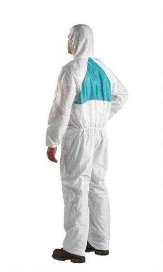 3M 4520 Coverall White & Green Type 5/6 Size S Pack of 20-camlab