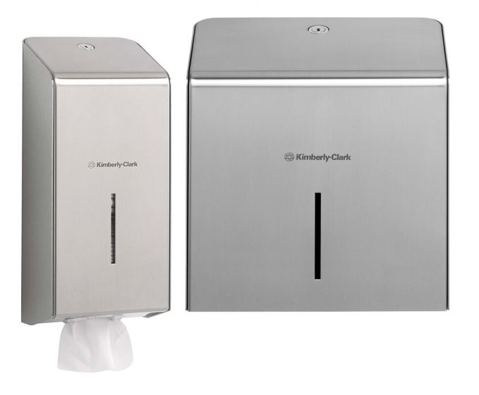 KIMBERLY-CLARK PROFESSIONAL Toilet Tissue Dispensers - Stainless Steel