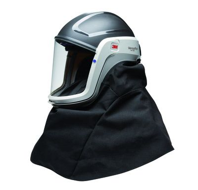 3M Versaflo M-406 Respiratory Helmet with Coated Visor and High Durability Shroud Pack of 1