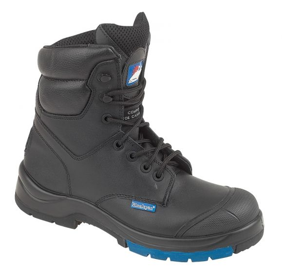 5162 Black Leather Combat Safety Boots