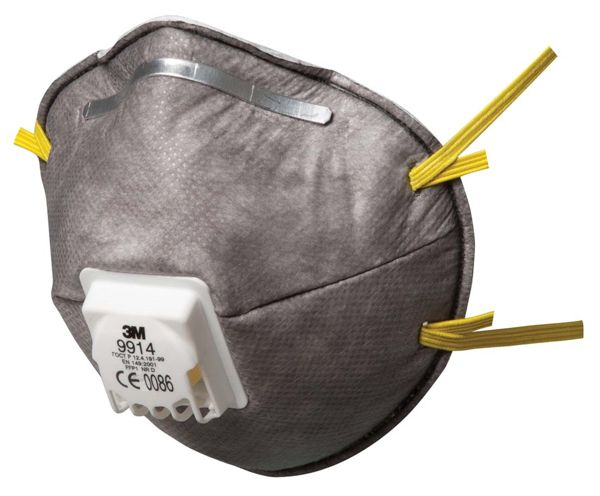 3M 9914 FFP1 Cup-Shaped Valved Dust/Mist/Nuisance Odour Respirator FFP1 - Pack of 10 x 10 (100 Total)