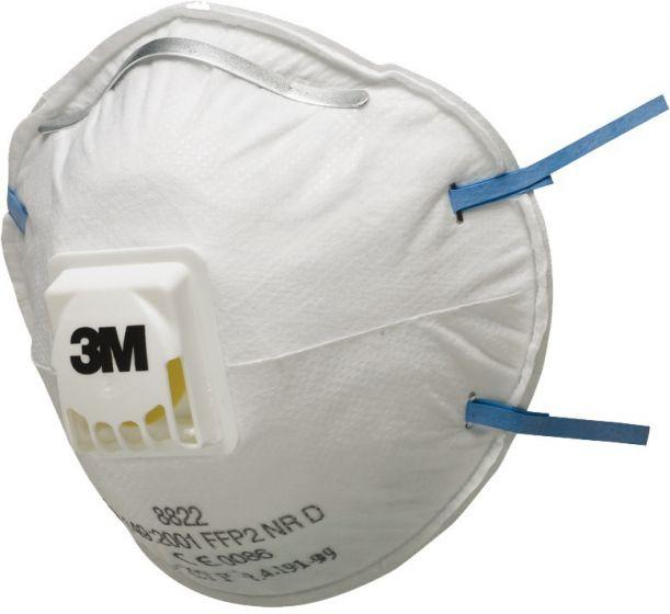 3M 8822 FFP2 Valved Dust/Mist Respirator - Pack of 5 x 8 (Total 40)