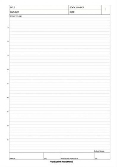 A4 Laboratory Notebook with 96 pages (5mm Scientific Ruled)