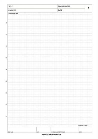 A4 Laboratory Notebook with 96 pages (5mm Scientific Grid)