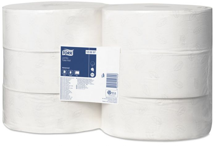 120257 Tork Jumbo Toilet Roll Advanced - White x 6 Rolls