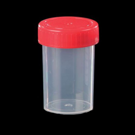 Container 60ml Clear PP with PE Cap, No Label Pack of 600