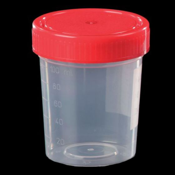 Clear PP Container 125ml with Screw PE Sap - Plain Label - Pack of 450