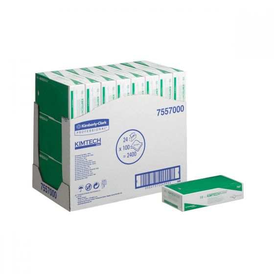 7557 KIMTECH SCIENCE Delicate Task Wipes - 2 Ply, White - 24 x 100 Sheets