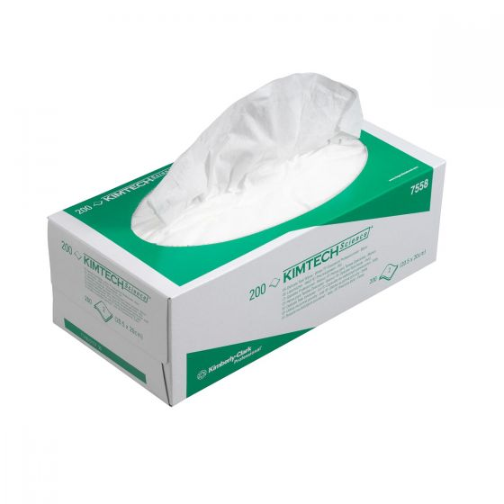 7558 KIMTECH SCIENCE  Delicate Task Wipes - 2 Ply, White - 15 x 200 Sheets