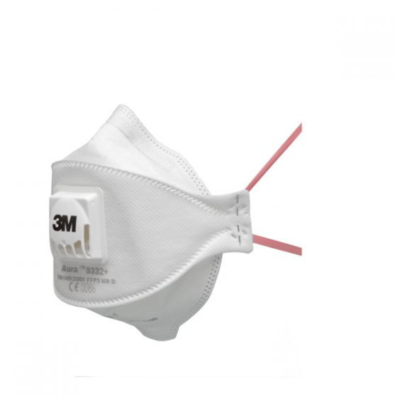 3M™ 9332+ Aura FFP3 Valved Dust/Mist Respirator Pack of 10