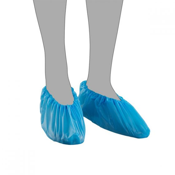 "Blue CPE Overshoes 16"" Pack of 20x100"