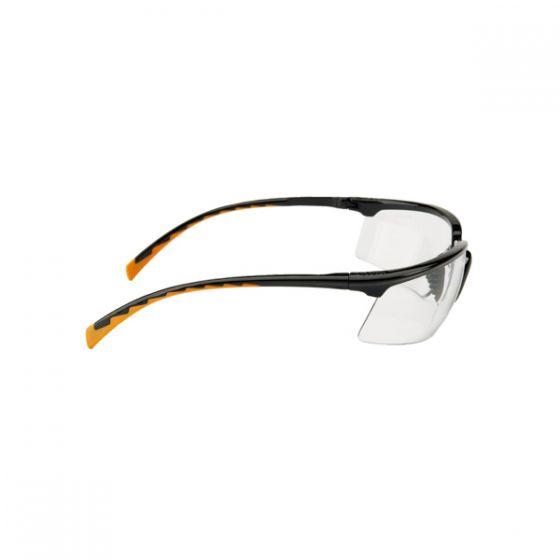 Solus black-orange PC clear lens w / AS+AF coating Pack of 20