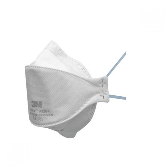 Aura 9320+ Fold-Flat Unvalved Dust/Mist Respirator - small pack FFP2 Pack of 5 X 8