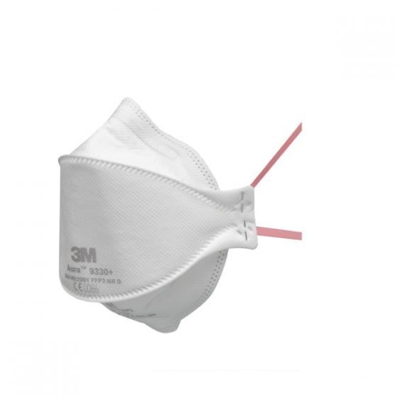 3M 9330+ Aura FFP3 Fold-Flat Unvalved Dust/Mist Respirator - Pack of 20