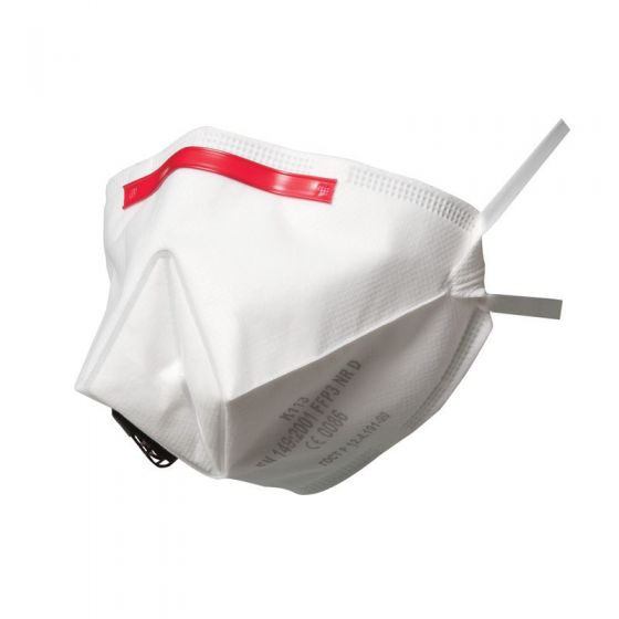 K113 Fold-Flat Valved Dust/Mist Respirator FFP3 Pack of 5 X 10