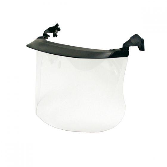 Clear visor polycarbonate 1mm short peak Pack of 10