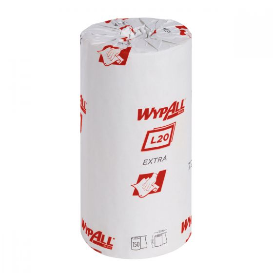 7294 WYPALL L20 EXTRA Wipers - Small Roll - White - 24 x 150 Sheets