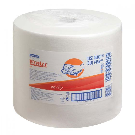 7452 WYPALL L40 Wipers - Large Roll - White x 750 Sheets