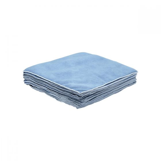 7635 KIMTECH Polishing Microfibre Cloths - Blue - 25 Sheets
