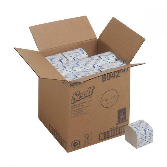 8042 SCOTT  Folded Toilet Tissue 2-Ply - 36 x 250 Sheets