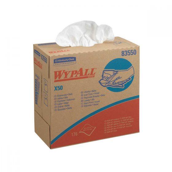 8355 WYPALL X50 Cloths - POP-UP Box - 10 x 176 Sheets
