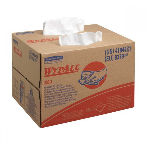 8379 WYPALL X80 Cloths - BRAG Box - White - 160 Sheets