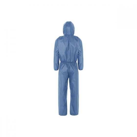 KLEENGUARD A50 Breathable Splash & Particle Protection Coveralls - Hooded/L Blue 25 Garments