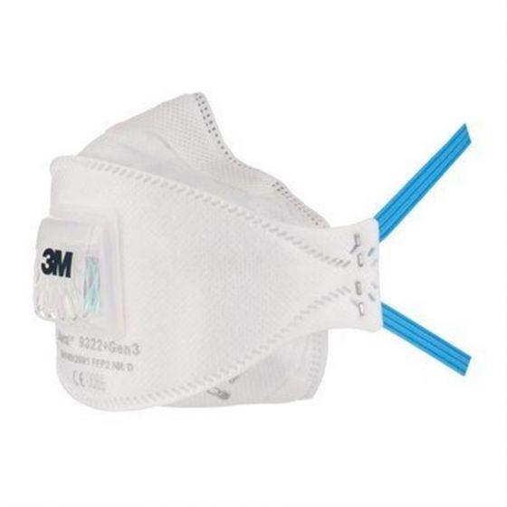 3M Aura Particulate Respirator  Valved 9322+Gen3 Pack of 5-7100138120-Camlab