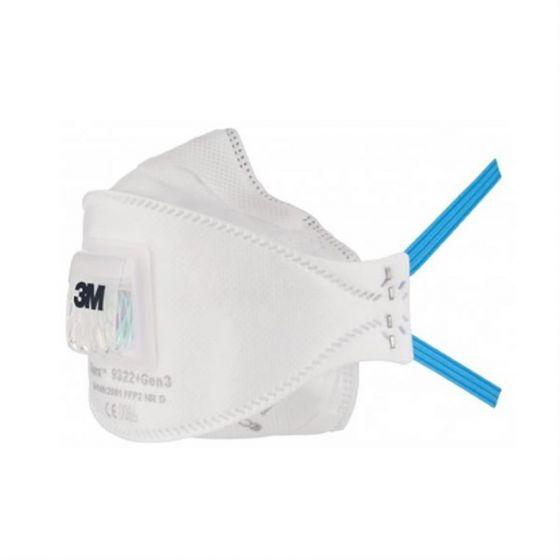 3M Aura Particulate Respirator FFP2 Valved 9322+Gen3 -54216-Camlab