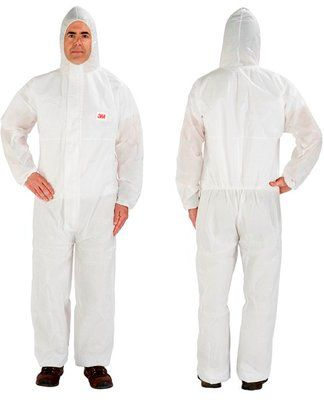 3M 4515 Protective Coverall White Type 5/6 Pack of 20