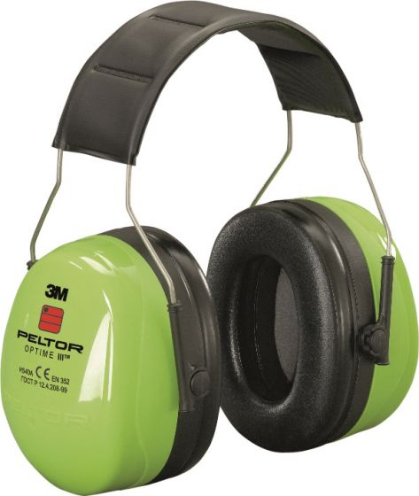 PELTOR Optime III Ear Muff Headband Hi-Viz Pack of 10