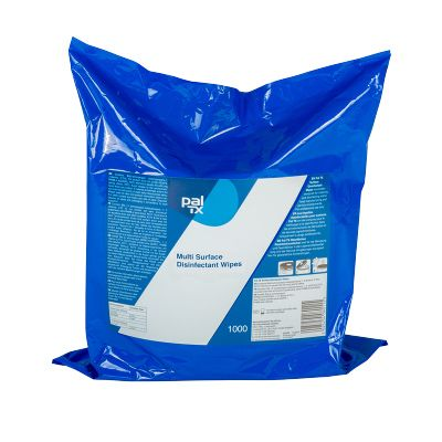 Q400110 Pal TX MultiPurpose Sanitising Wipes - 3 x 1000 Sheet Refill