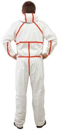 3M 4565 Coverall White & Red Type 4/5/6 Size XXXXL Pack of 20-camlab