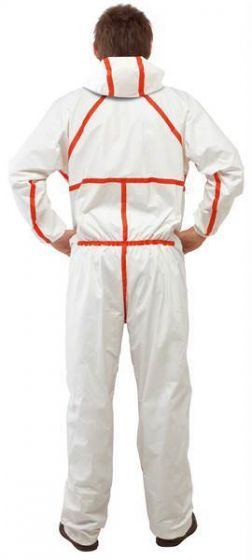 3M 4565 Coverall White & Red Type 4/5/6 Size M Pack of 20